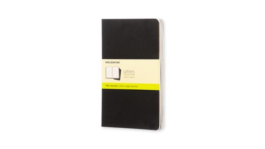 Moleskine Cahier large blanko schwarz DIN A5. 3er Pack