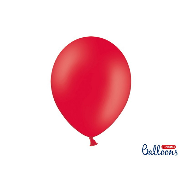 100 Strong Balloons 30cm. Pastel Poppy Red (1 pkt / 100 pc.)