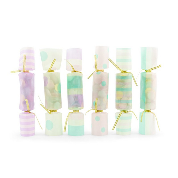 Confetti Cracers, mix, 3x17x3,5cm (1 pkt / 6 pc.)