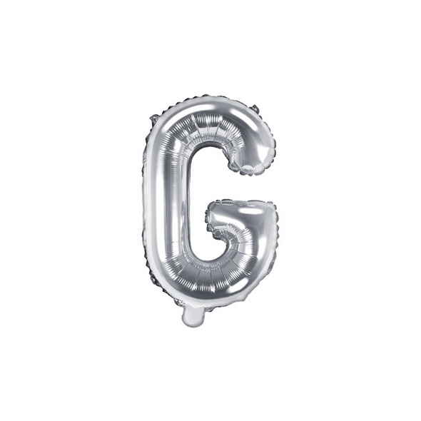 Folienballon Buchstabe G 35cm silber metallic