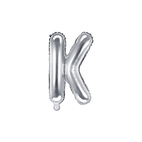 Folienballon Buchstabe K 35cm silber metallic