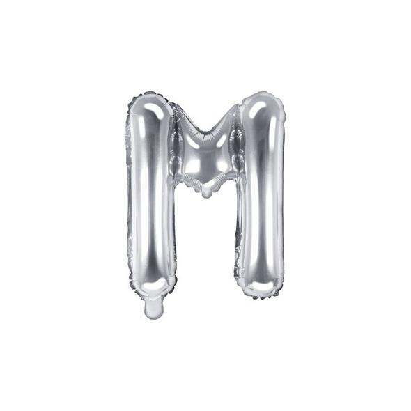 Folienballon Buchstabe M 35cm silber metallic