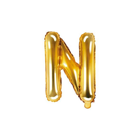 Folienballon Buchstabe N 35cm gold metallic