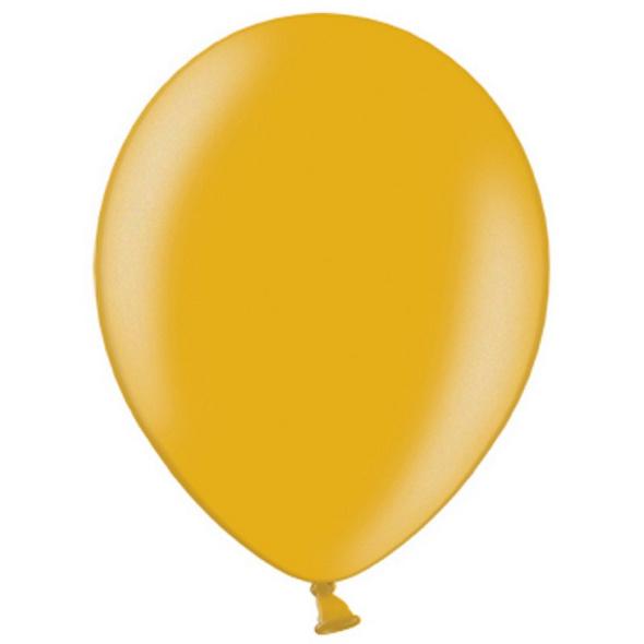 Latexballons 10er Pack gold-metallic 30cm