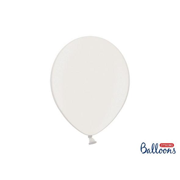 Latexballons 10er Pack metalic weiss 30cm