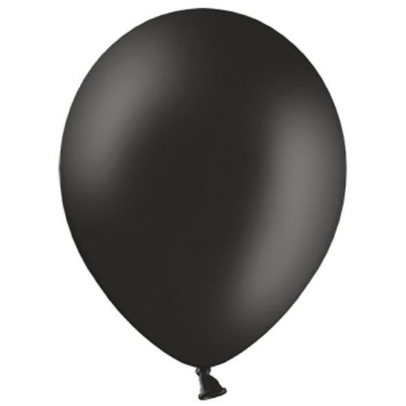 Latexballons 10er Pack pastell schwarz 30cm