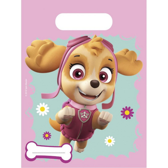 PAW PATROL SKYE & EVEREST 6 Party Bags