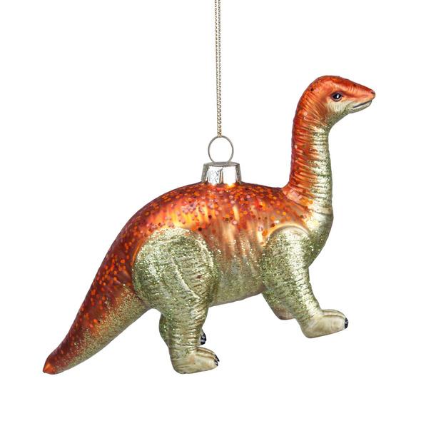HANG ON Anhänger Dinosaurier orange/gr.