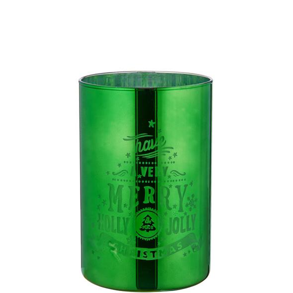 "HOLLY JOLLY Windlicht ""Holly Jolly"" grün"