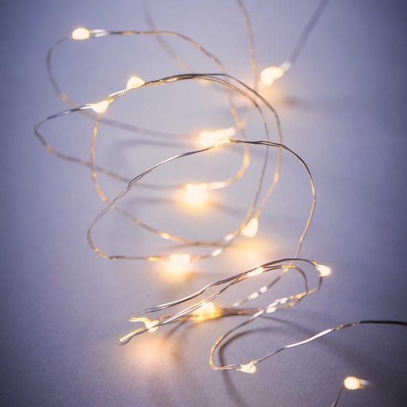 TWINE LIGHTS  LED Lichterkette Draht 20L