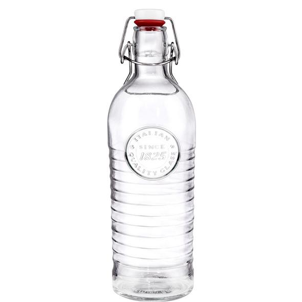 RIFFLE Glasflasche mit Bügelverschluss