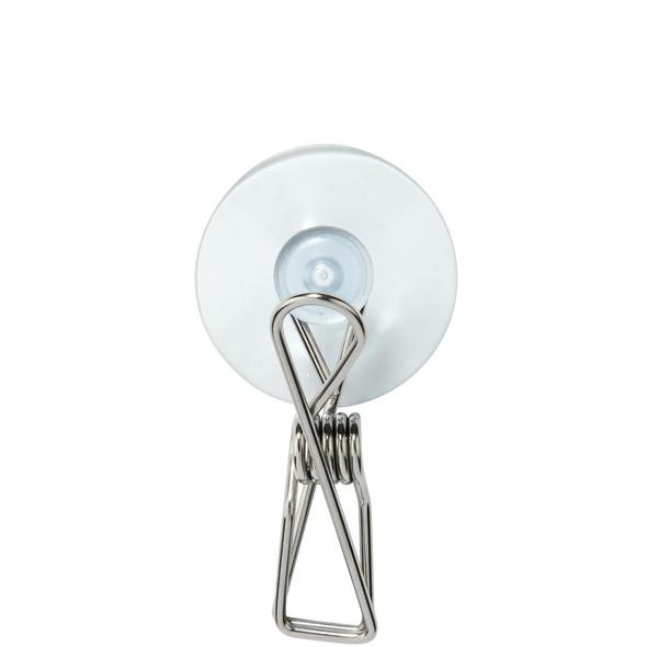 PIN-UP Edelstahl-Klammer mit Saugnapf