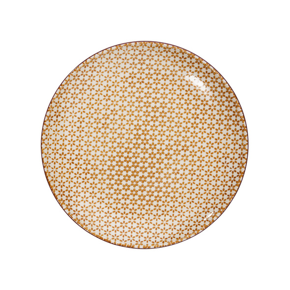 RETRO Essteller Ø 26,4 cm gelb