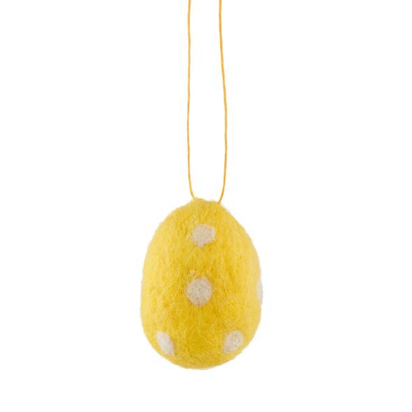 EASTER Anhänger Filz Ei, gelb