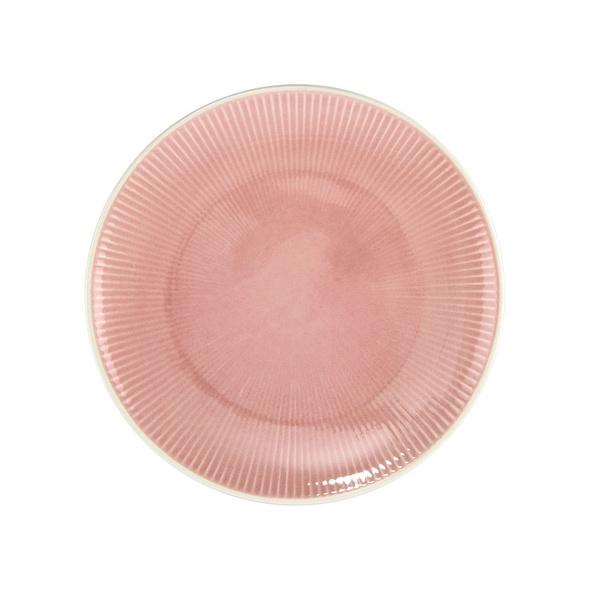 HANAMI Dinnerteller Streifen rosa