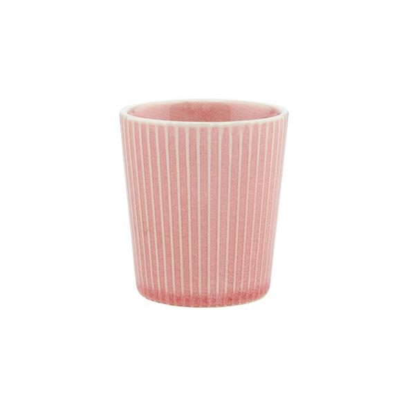 HANAMI Teetasse Streifen rosa, 200 ml