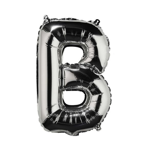 """UPPER CLASS Folienballon silber """"B"""""""