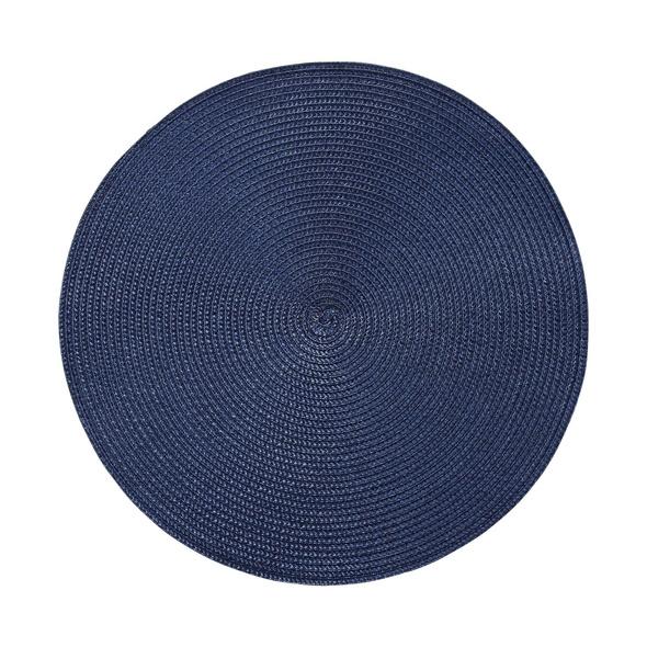 AMBIENTE Tischset rund 38cm dunkelblau