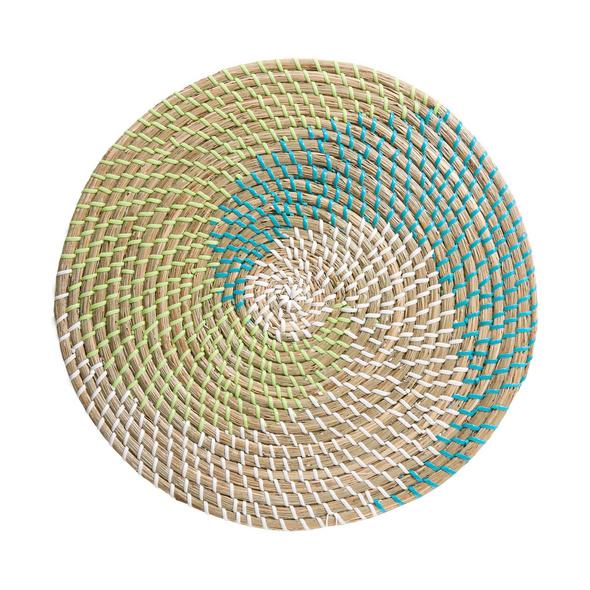 RONDA Tischset Seegras blau grün weiß