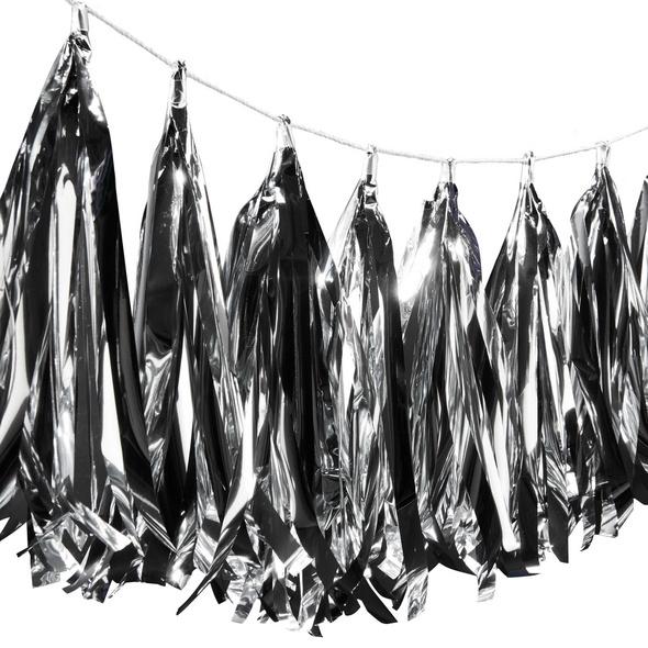 BANNER DAY Girlande Tassel silber 250cm
