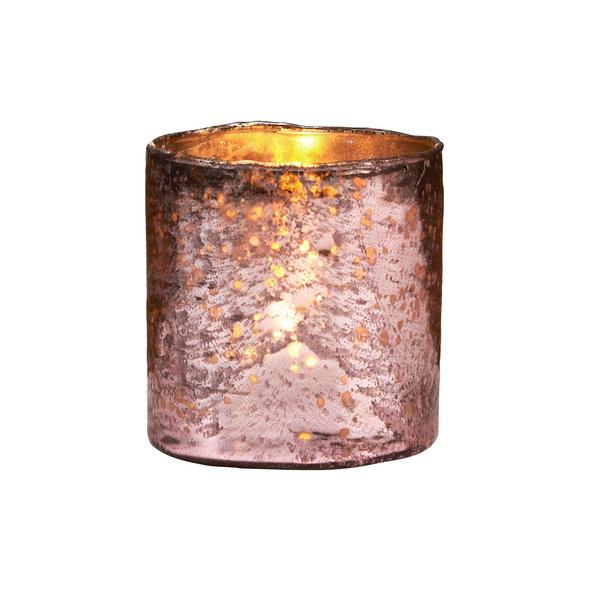 DELIGHT Glas-Votive 11 cm, rosa