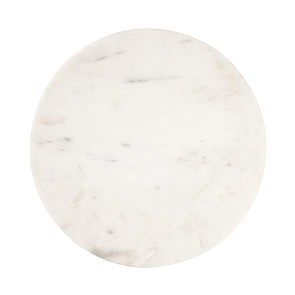 MARBLE Marmorplatte Ø 30cm weiß