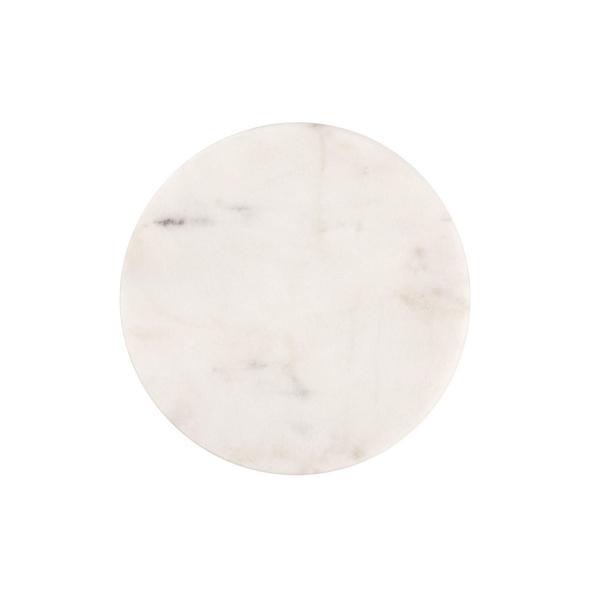 MARBLE Marmor Untersetzer Ø 10cm weiß