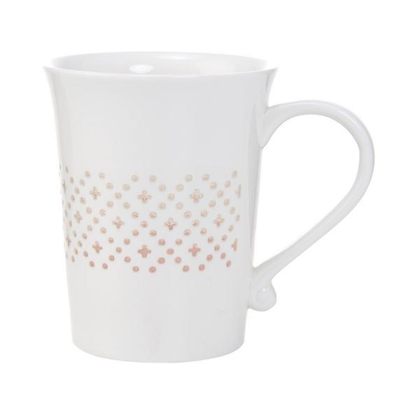 WHITE XMAS Tasse mit transp.Muster Kreuz