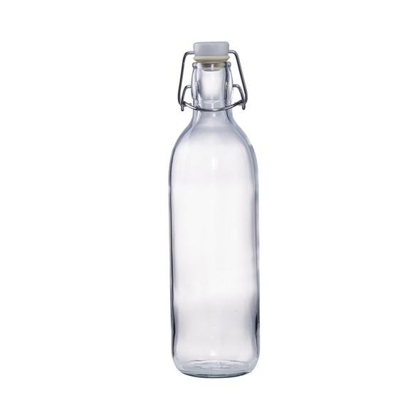 EMILIA Glasflasche m. Bügelverschluss 1l
