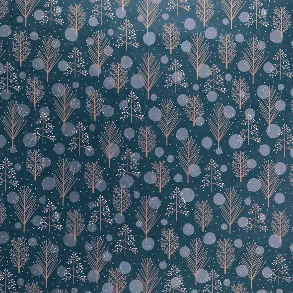 SURPRISE Geschenkpapier Winterbaum blau
