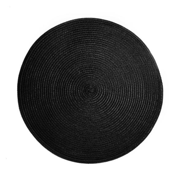 AMBIENTE Tischset rund 38 cm schwarz