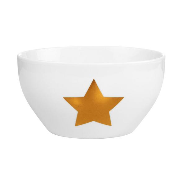 WHITE XMAS Schale Stern Gold