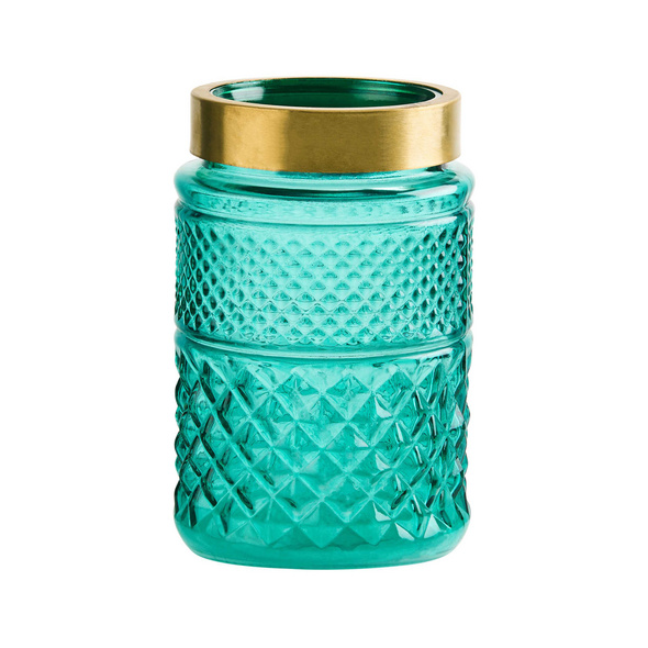 GRACE Vase 20cm türkis/gold