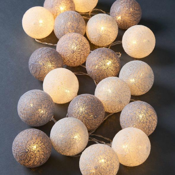 LES BELLES CottonBall LK,20er grau/weiß