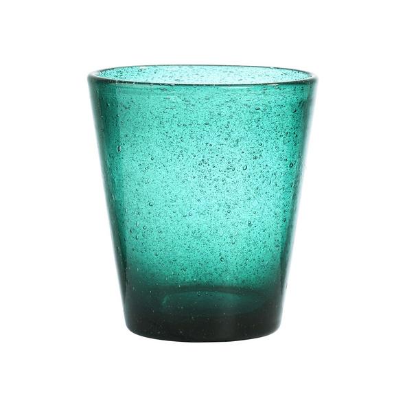 WATER COLOUR Glas türkis Ø 9cm 290ml