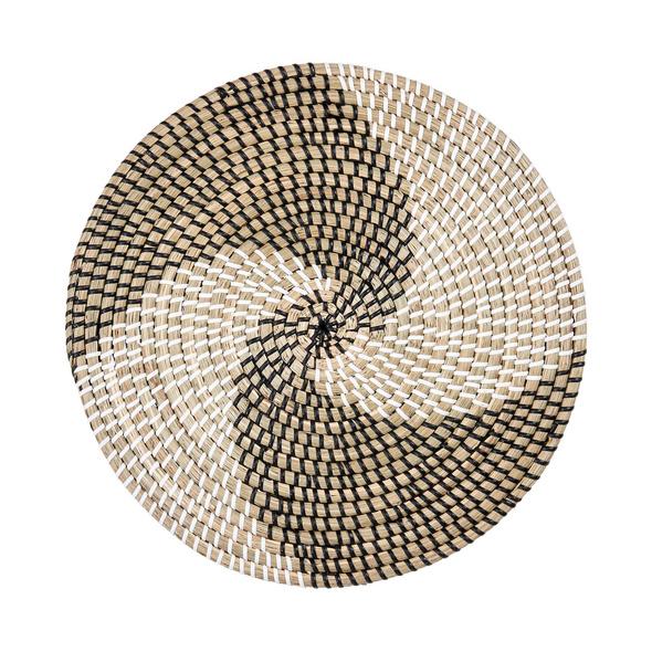 RONDA Tischset schwarz/weiß Wirbel