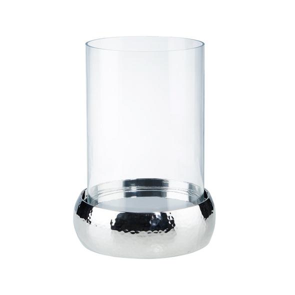 LORD Windlicht Edelstahl/Glas 23cm