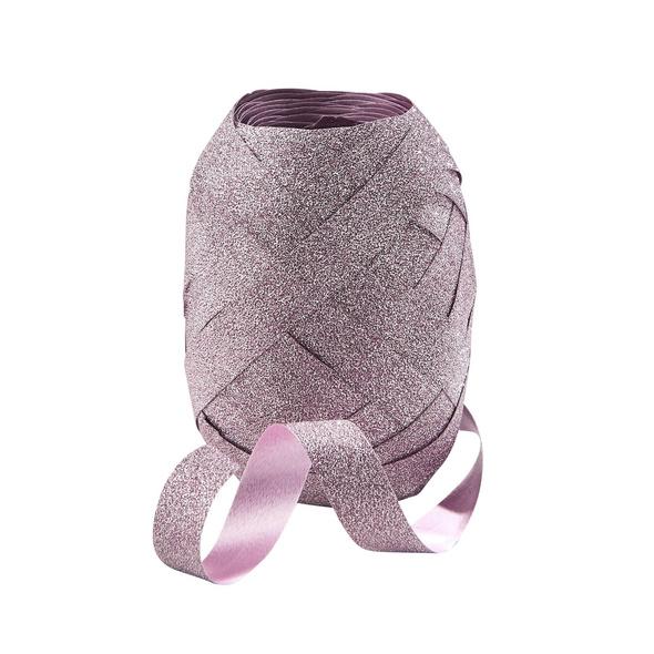 CURLS Kräuselband 20m  glitter rosa