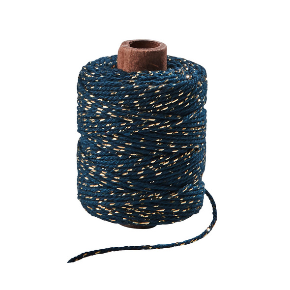 COTTON TWIST Glitzerfaden 50m blau