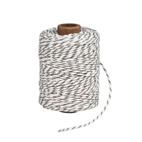 COTTON TWIST Kordel 50m grau/weiß