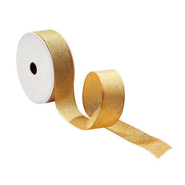 RIBBON Geschenkband Glitter Gold 3m