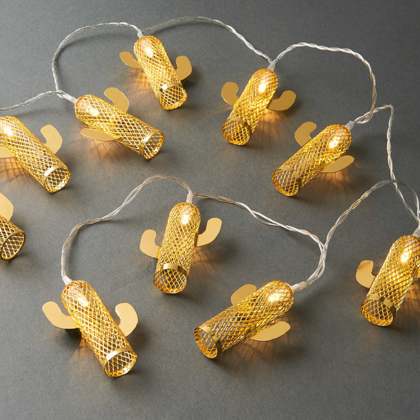 MIAMI Lichterkette Kaktus165 cm gold