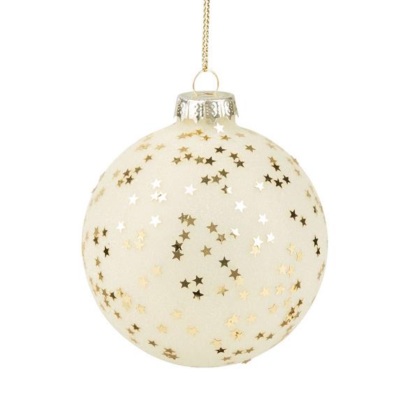 HANG ON Weihnachtskugel 8cm Sterne gold