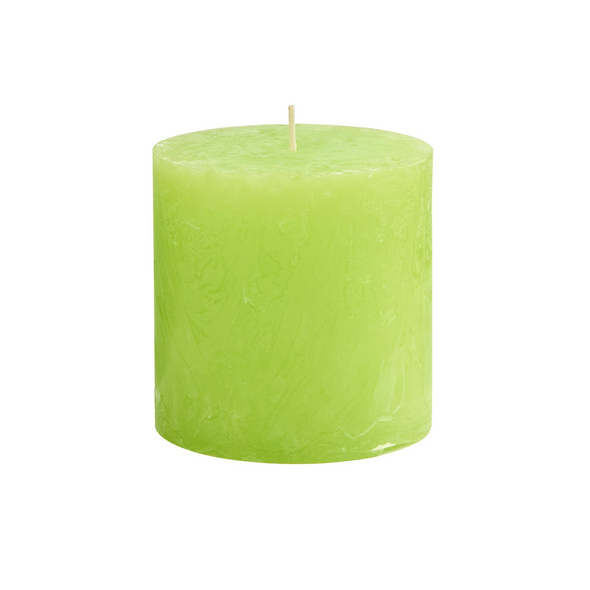 RUSTIC Stumpenkerze, H10cm, hellgrün