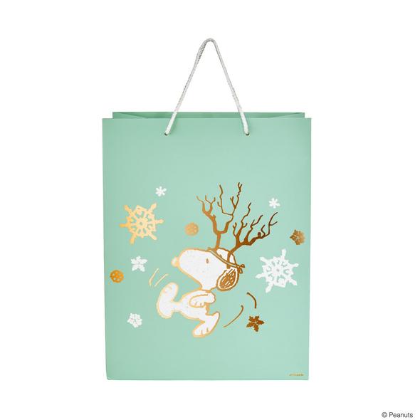PEANUTS Geschenktüte Snoopy Geweih groß
