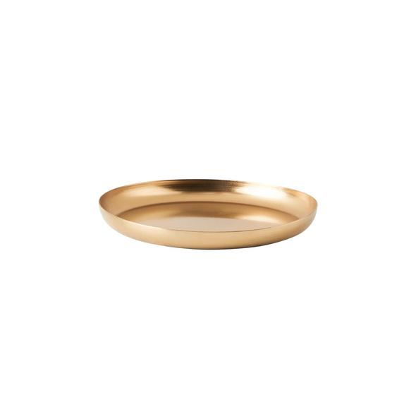 CARAT Metall Untersetzer 12cm, gold