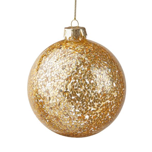 HANG ON Weihnachtskugel, Blättchen, 10cm