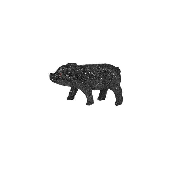 PIGGY Glitter Schwein 9cm schwarz
