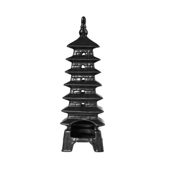 PAGODA Turm für Teelicht,Pagode,schwarz