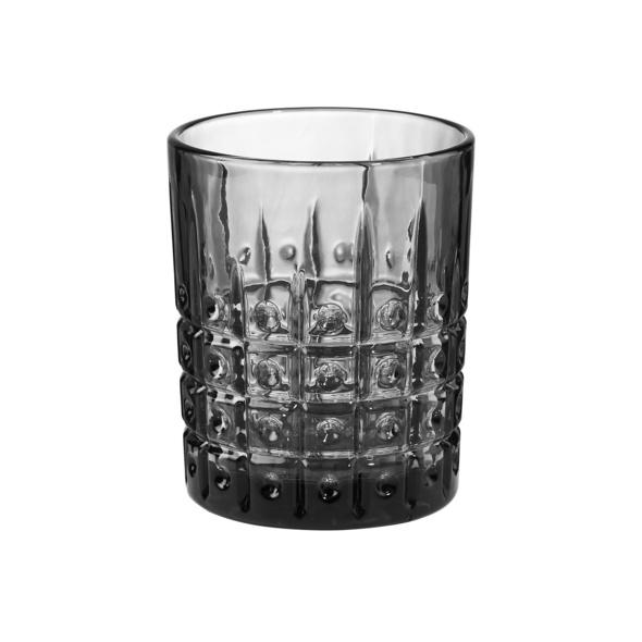 MONT FLEURI Glas Punkte schwarz 300 ml